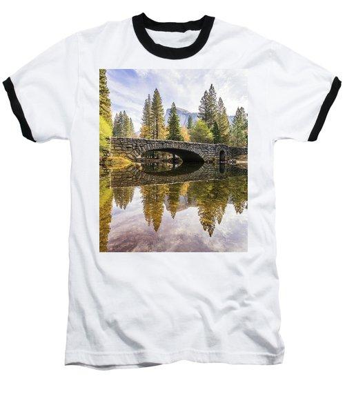 Yosemite Reflections Baseball T-Shirt by Alpha Wanderlust