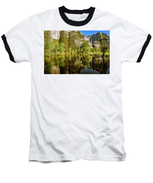 Yosemite Reflections On The Merced River Baseball T-Shirt