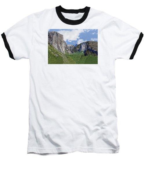 Yosemite Tunnel View Baseball T-Shirt