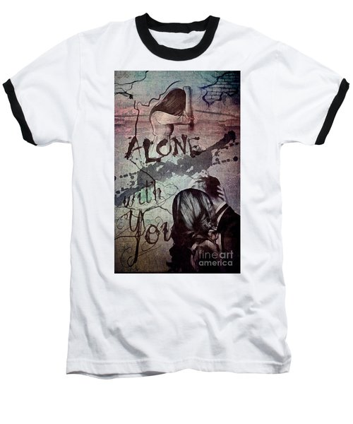 Baseball T-Shirt featuring the mixed media You by Mo T