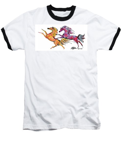 Young Horses Playing Baseball T-Shirt