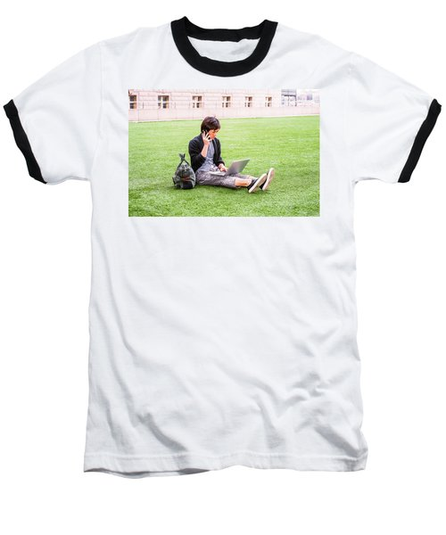 Young Japanese Man Traveling, Working In New York 15041418 Baseball T-Shirt