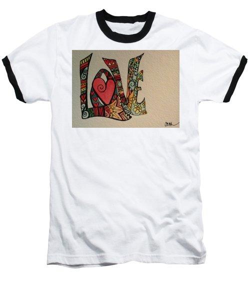 Your Big Heart Baseball T-Shirt by Claudia Cole Meek