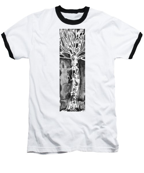 Baseball T-Shirt featuring the painting Youth by Carol Rashawnna Williams