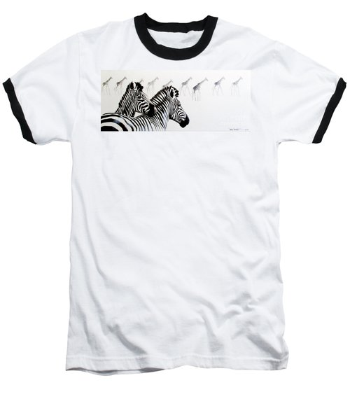 Zebra And Giraffe Baseball T-Shirt