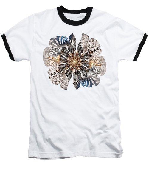 Zebra Flower Baseball T-Shirt