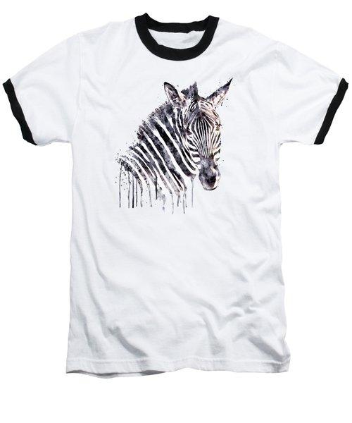 Zebra Head Baseball T-Shirt by Marian Voicu