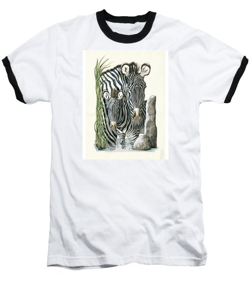 Zebra Mother And Colt Protect Our Children Painting Baseball T-Shirt