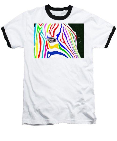 Zebra Nothing Is Black And White Baseball T-Shirt