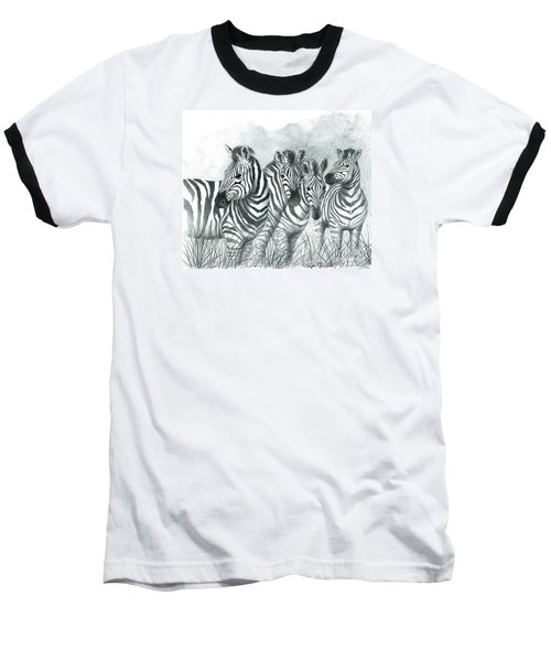 Zebra Quartet Baseball T-Shirt