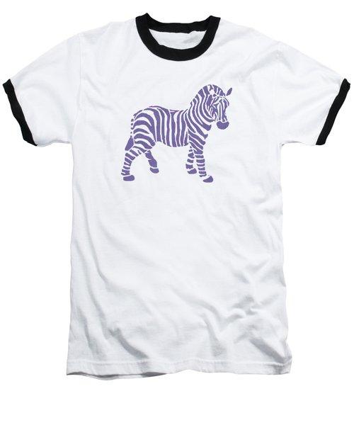 Zebra Stripes Pattern Baseball T-Shirt by Christina Rollo