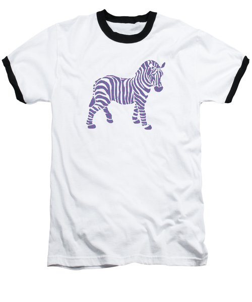 Zebra Stripes Pattern Baseball T-Shirt