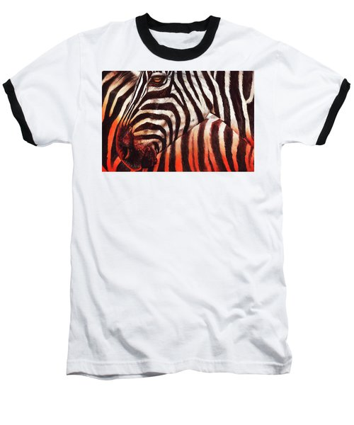 Zebra Sunset Baseball T-Shirt