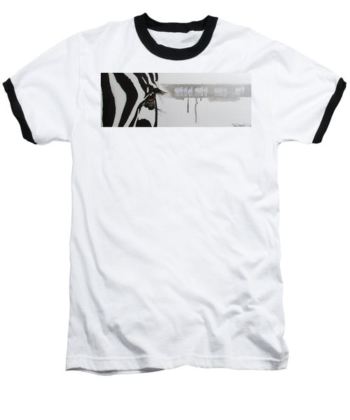 Zebra Tears Baseball T-Shirt