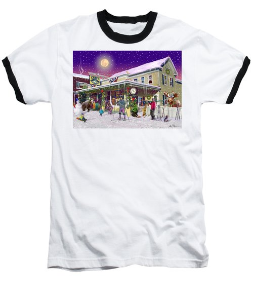 Zebs General Store In North Conway New Hampshire Baseball T-Shirt by Nancy Griswold