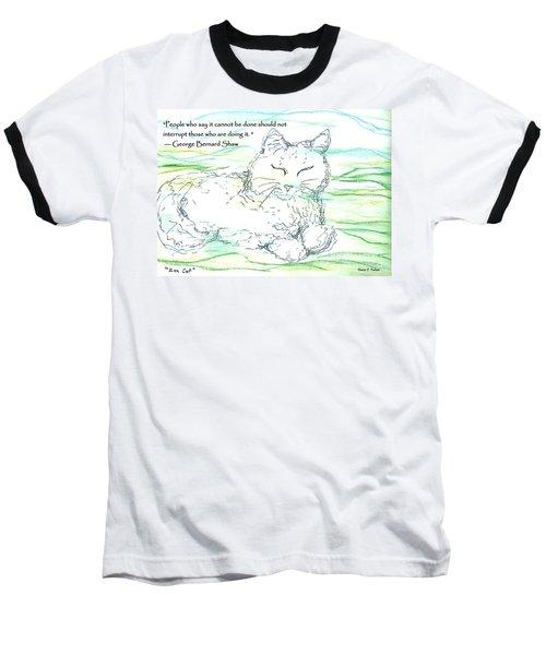 Zen Cat Baseball T-Shirt