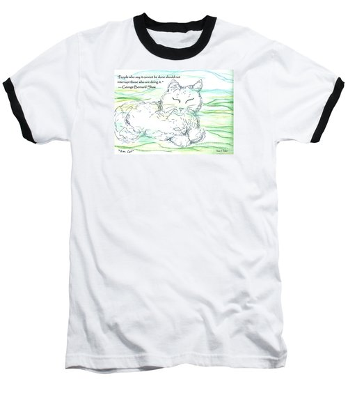 Zen Cat Baseball T-Shirt