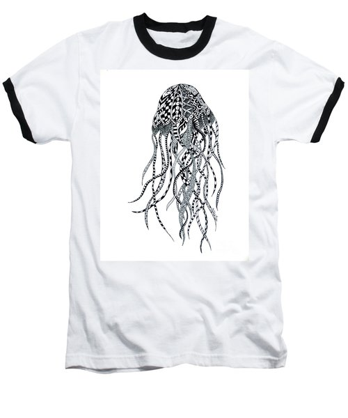 Zen Jellyfish Baseball T-Shirt by Tamyra Crossley