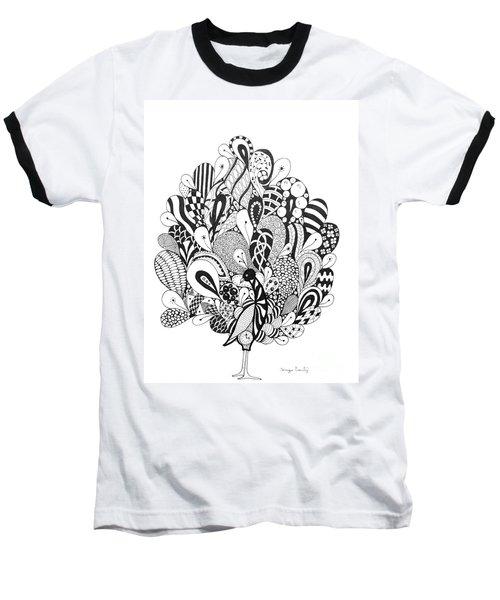 Zen Peacock Baseball T-Shirt