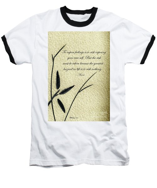 Zen Sumi 4m Antique Motivational Flower Ink On Watercolor Paper By Ricardos Baseball T-Shirt