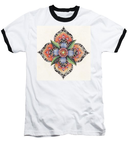 Zendala Template #1 Baseball T-Shirt by Jan Steinle
