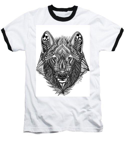 Zendoodle Wolf Baseball T-Shirt