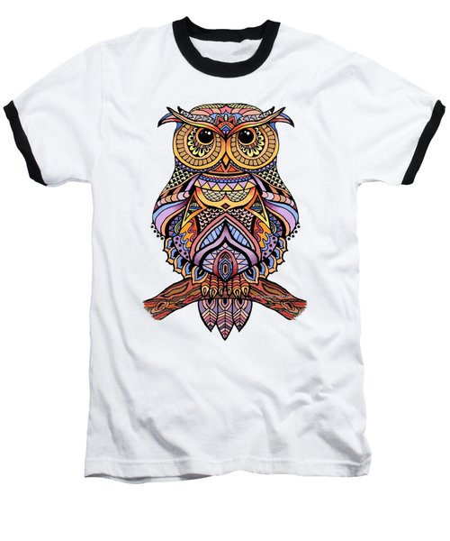 Zentangle Owl Baseball T-Shirt