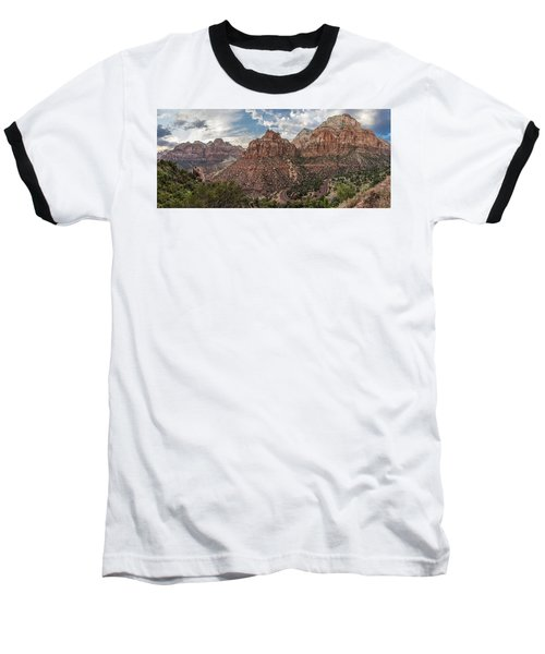 Zion National Park Switchback Road Baseball T-Shirt