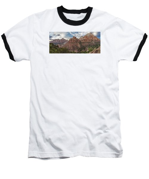 Zion National Park Switchback Road Baseball T-Shirt