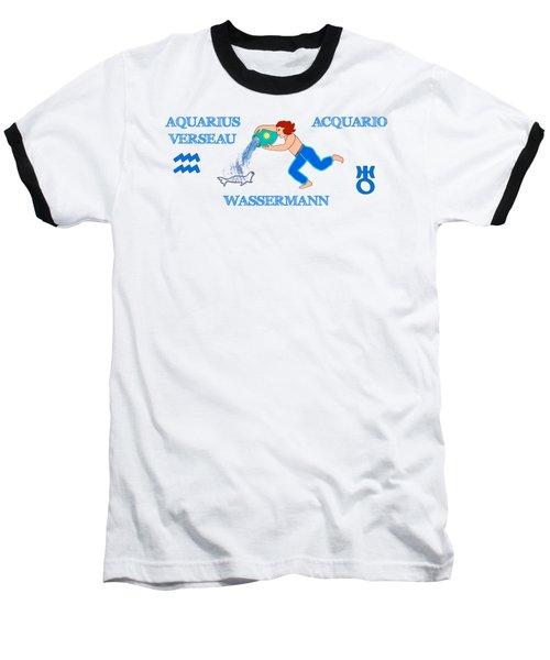 Zodiac Sign Aquarius Baseball T-Shirt