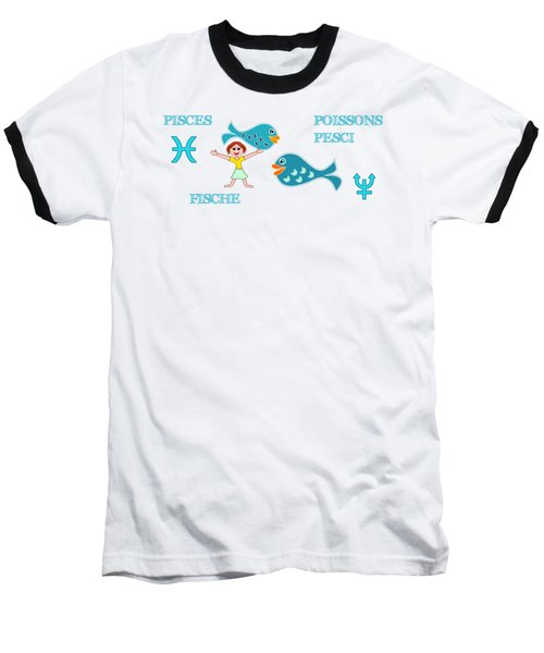 Zodiac Sign Pisces Baseball T-Shirt