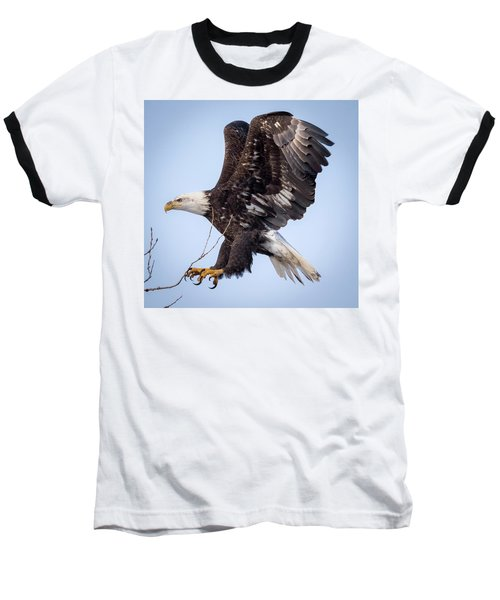 Eagle Coming In For A Landing Baseball T-Shirt