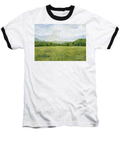 Fields Meet Mountains Baseball T-Shirt
