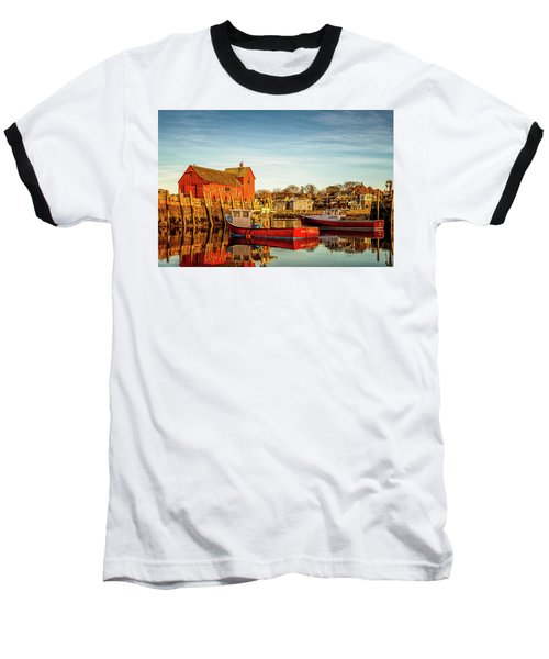 Low Tide And Lobster Boats At Motif #1 Baseball T-Shirt