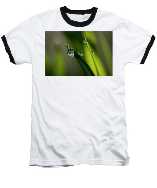 Rain Drops On Grass Baseball T-Shirt
