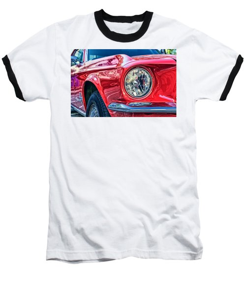 Red Vintage Car Baseball T-Shirt
