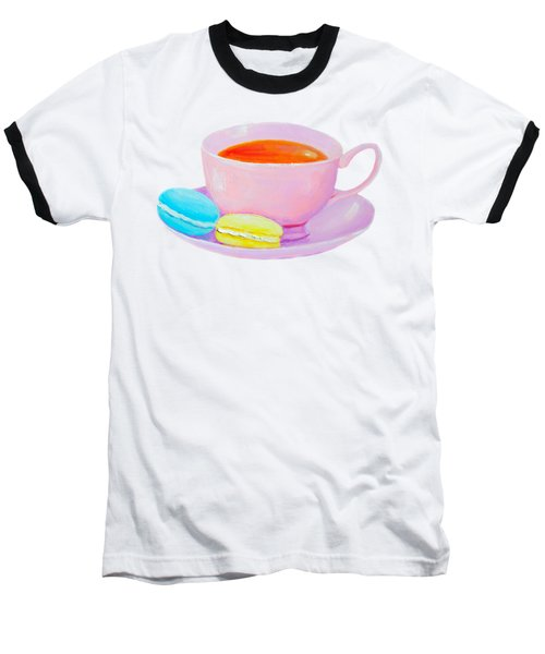 Tea And Macaroons Baseball T-Shirt
