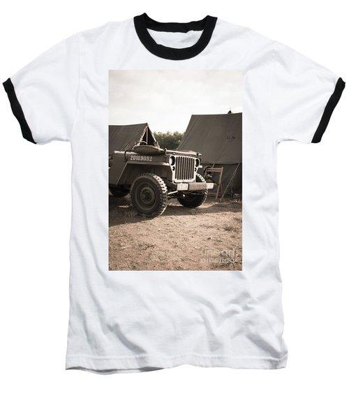 World War II Us Army Jeep Baseball T-Shirt