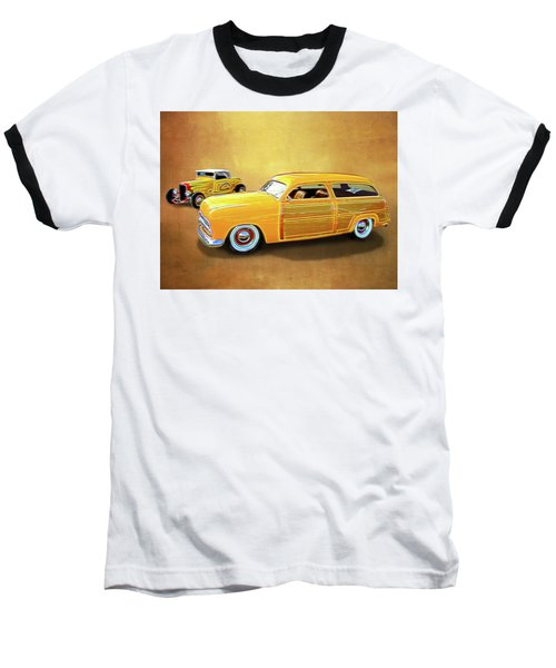 1949 Woody And 1932 Roadster Baseball T-Shirt