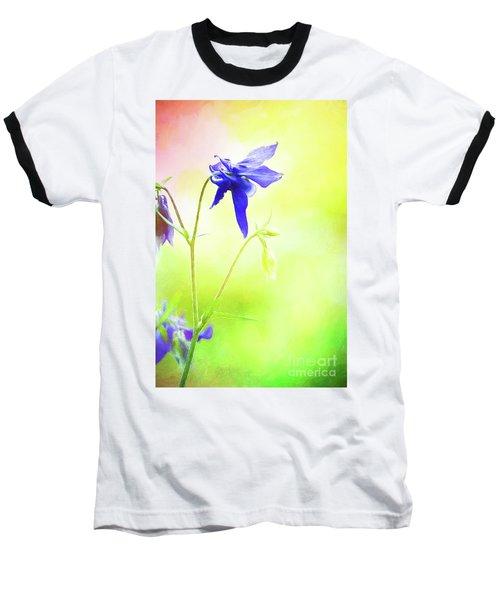 Painted Purple Columbine 2 Baseball T-Shirt