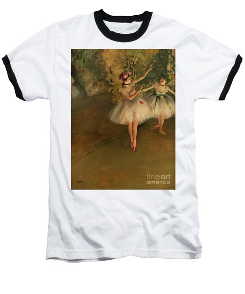 Two Dancers On A Stage Baseball T-Shirt
