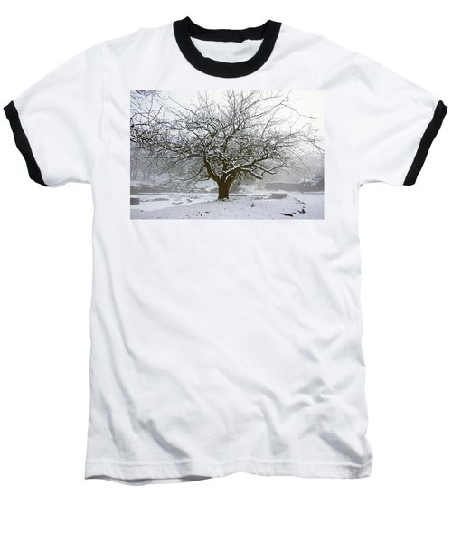 30/01/19  Rivington.  Japanese Pool. Snow Clad Tree. Baseball T-Shirt