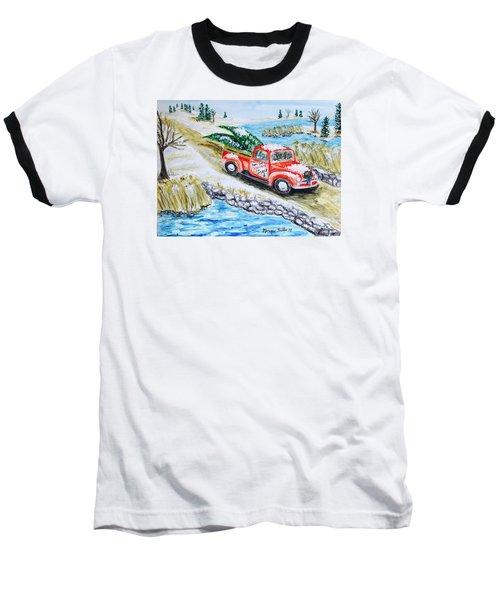A Cape Cod Christmas Baseball T-Shirt
