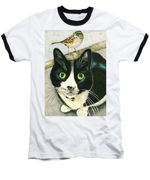A Cat Named Sparrow Baseball T-Shirt