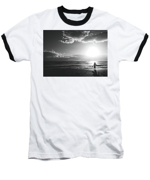 A Day Of Surfing Begins Baseball T-Shirt