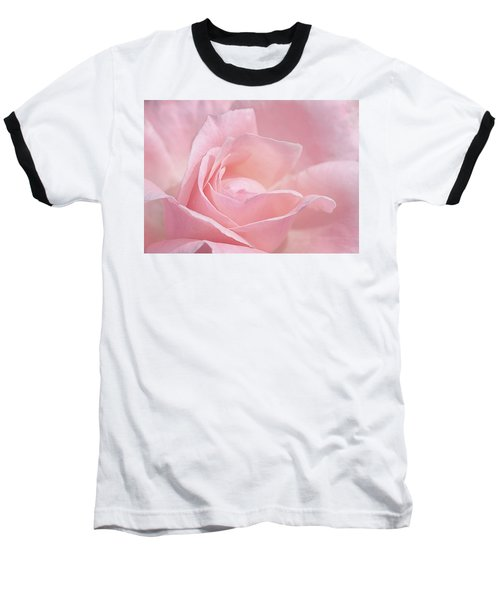 A Delicate Pink Rose Baseball T-Shirt