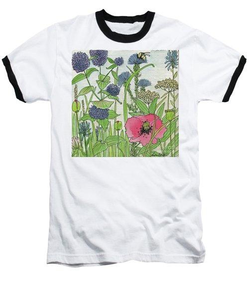 A Single Poppy Wildflowers Garden Flowers Baseball T-Shirt