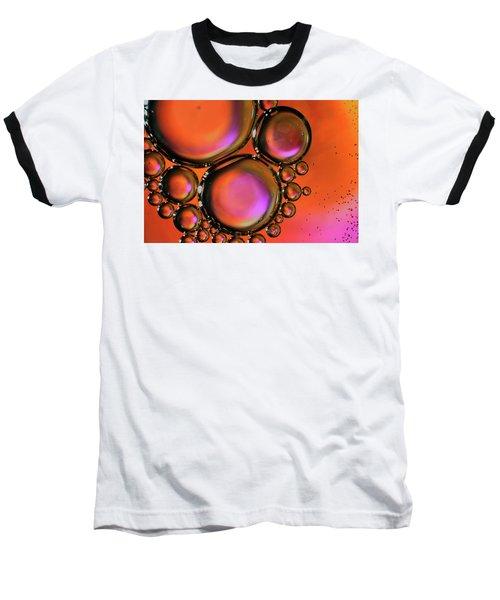 Abstract Droplets Baseball T-Shirt