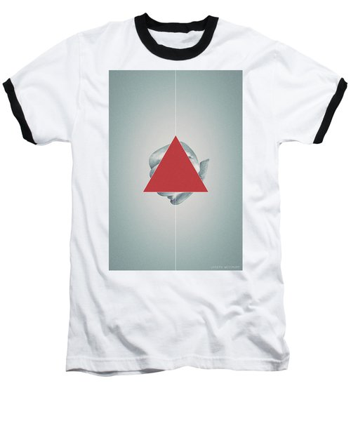 Ampersand - Surreal Geometric Abstract Crab Legs Baseball T-Shirt