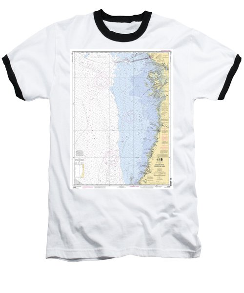 Anclote Keys To Crystal River Noaa Nautical Chart 11409 Baseball T-Shirt